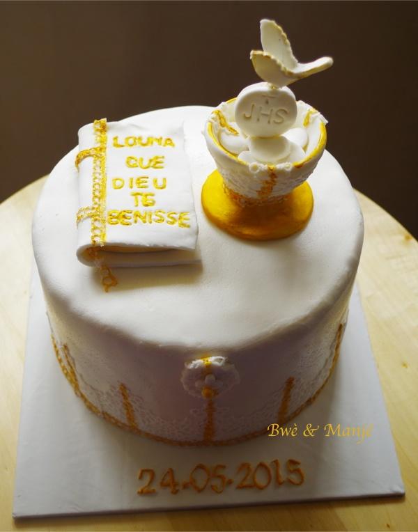 gâteau première communion cake design