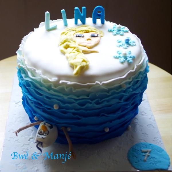 gâteau reine des neige