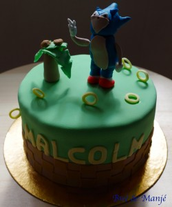 gâteau sonic cake design