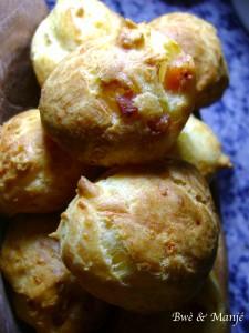 gougères au  jambon