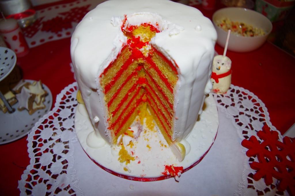 intérieur gâteau de Noël