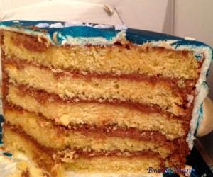 intérieur gâteau planètes