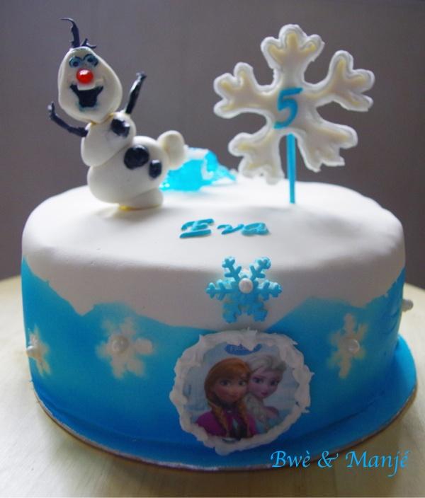 reine des neiges cake design