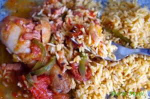 riz poulet basquaise