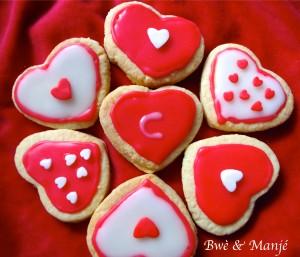 sablés décores st valentin