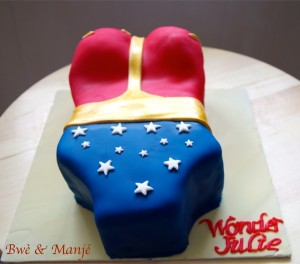 wonder woman cake design